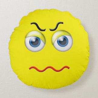 Cojín Redondo Emoji enojado enojado