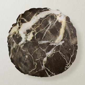 Cojín Redondo Expresionismo Vetear-Abstracto de Shirley Taylor