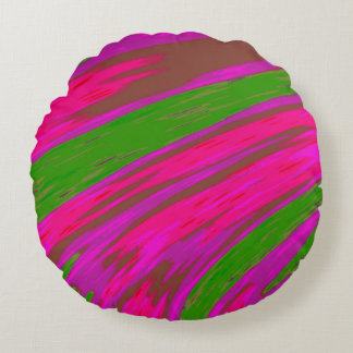 Cojín Redondo Extracto brillante del chasquido del color rosado