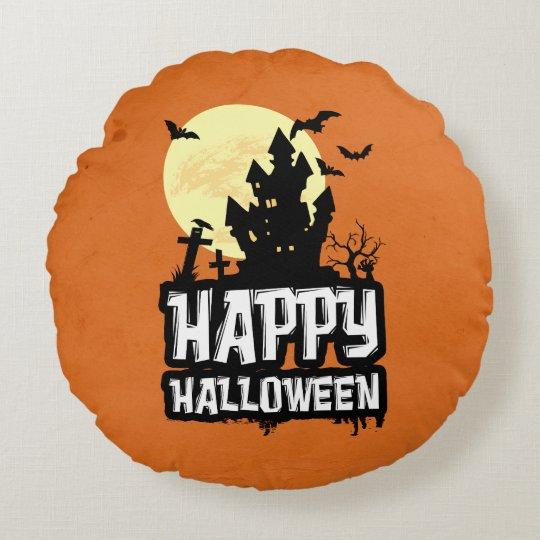 Cojín Redondo Feliz Halloween