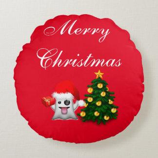 Cojín Redondo Feliz Navidad- Merry Christmas