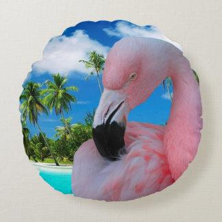 Cojín Redondo Flamenco y playa