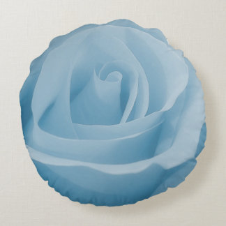 Cojín Redondo Flor color de rosa azul