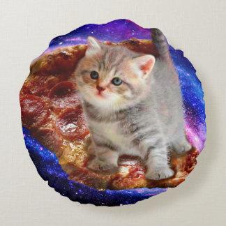 Cojín Redondo gato de la pizza - gatos lindos - gatito - gatitos
