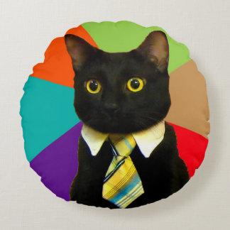 Cojín Redondo gato del negocio - gato negro