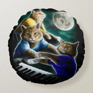 Cojín Redondo gato del teclado - música del gato - memes del