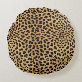 Cojín Redondo Impresión del guepardo