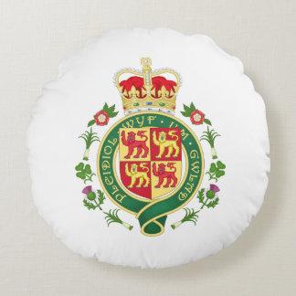 Cojín Redondo Insignia real de País de Gales