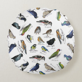 Cojín Redondo Jardín de los pájaros