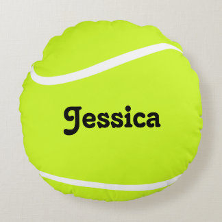 Cojín Redondo Jugador de encargo de la pelota de tenis o