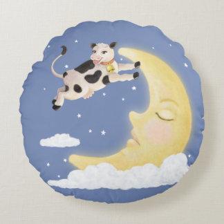 Cojín Redondo La vaca saltada sobre la luna
