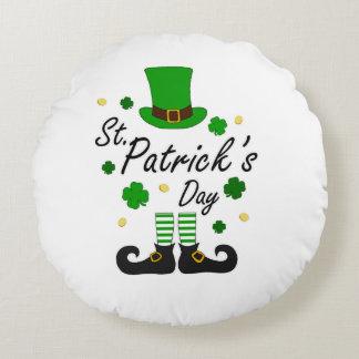 Cojín Redondo Leprechaun del St Patricks