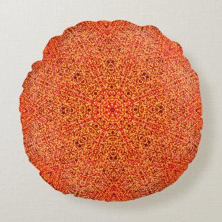 Cojín Redondo Mandala caliente detallada de los colores