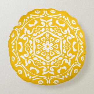 Cojín Redondo Mandala de la miel