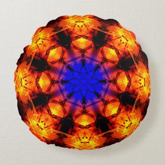 Cojín Redondo Mandala de la supernova de la estrella