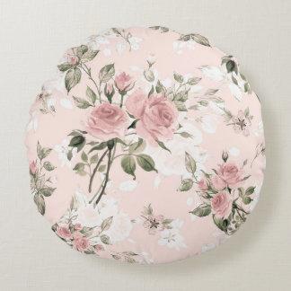 Cojín Redondo moda lamentable, moda francesa, vintage, floral,