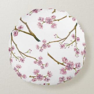 Cojín Redondo Modelo de la flor de cerezo de Sakura