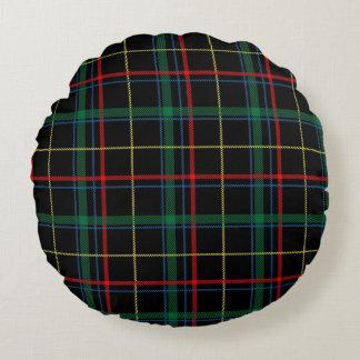 Cojín Redondo Modelo de la tela escocesa de tartán