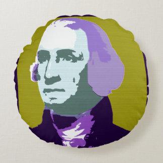 Cojín Redondo No. 1 del arte pop de George Washington