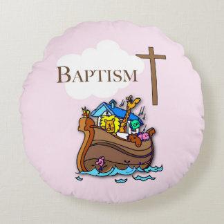 Cojín Redondo Personalizable, la arca de Noah del bautismo de la