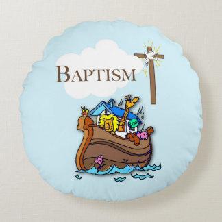 Cojín Redondo Personalizable, la arca de Noah del bautismo del