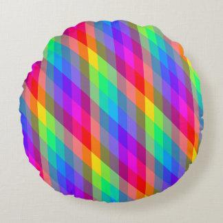 Cojín Redondo Prismas espectrales del arco iris colorido