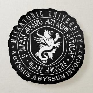 Cojín Redondo Regalo de Miskatonic - logotipo de la universidad