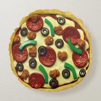 Cojín Redondo Sitio de fiesta de cumpleaños de la pizza de los