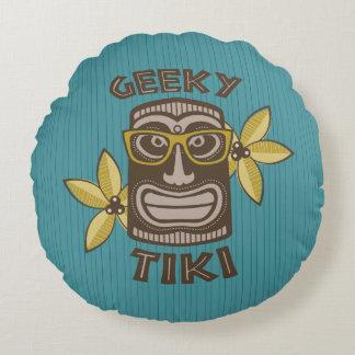 Cojín Redondo Tiki Geeky
