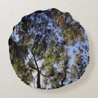 Cojín Redondo Toldo de árbol de eucalipto