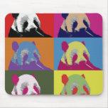 Cojines de ratón del arte pop de la panda 2 tapete de raton