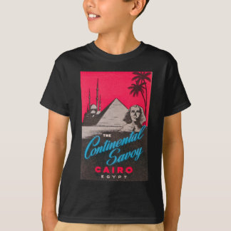 Col rizada continental El Cairo Egipto Camiseta