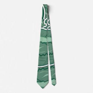 Col verde enrrollada corbata personalizada