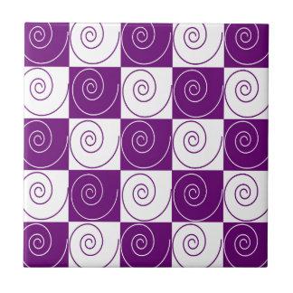 Colas Mousey púrpuras Azulejo Cuadrado Pequeño