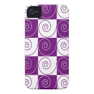 Colas Mousey púrpuras Funda Para iPhone 4 De Case-Mate