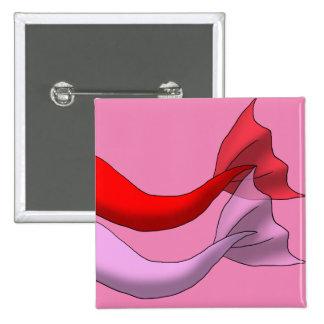 Colas rojas y rosadas de la sirena chapa cuadrada 5 cm