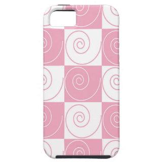 Colas rosadas y blancas del ratón funda para iPhone SE/5/5s
