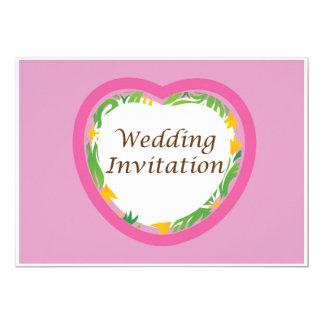 Colección 1 de la invitación del boda - rosa