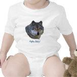 Colección alfa del lobo gris trajes de bebé