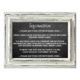 Colección blanca rústica del boda del marco y de invitación 10,8 x 13,9 cm