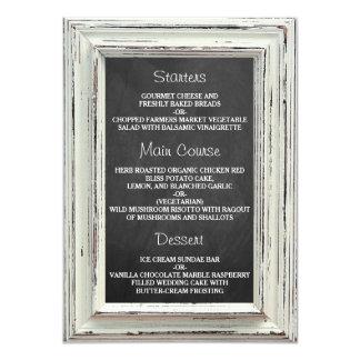 Colección blanca rústica del boda del marco y de invitación 11,4 x 15,8 cm