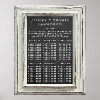Colección blanca rústica del boda del marco y de póster