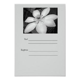 colección blanco y negro del boda invitación 8,9 x 12,7 cm