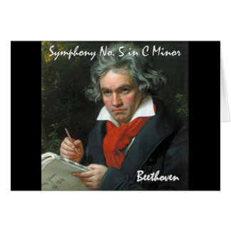Colección clásica de la obra maestra de Beethoven Tarjeta De Felicitación