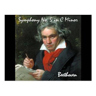 Colección clásica de la obra maestra de Beethoven Postales