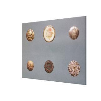 Colección de botones impresión en lienzo
