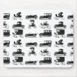 Colección de coches viejos y clásicos tapetes de ratón