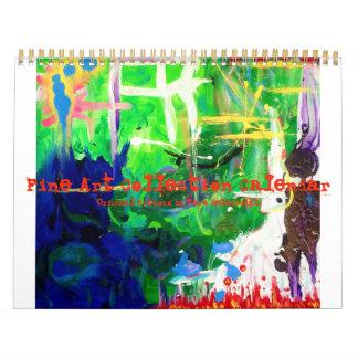 Colección de la bella arte calendario de pared