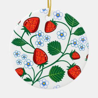 Colección de la fresa de Emma Janeway Adorno Navideño Redondo De Cerámica