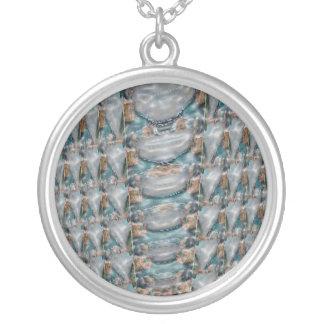 colección de la piedra preciosa de la perla 3d collares